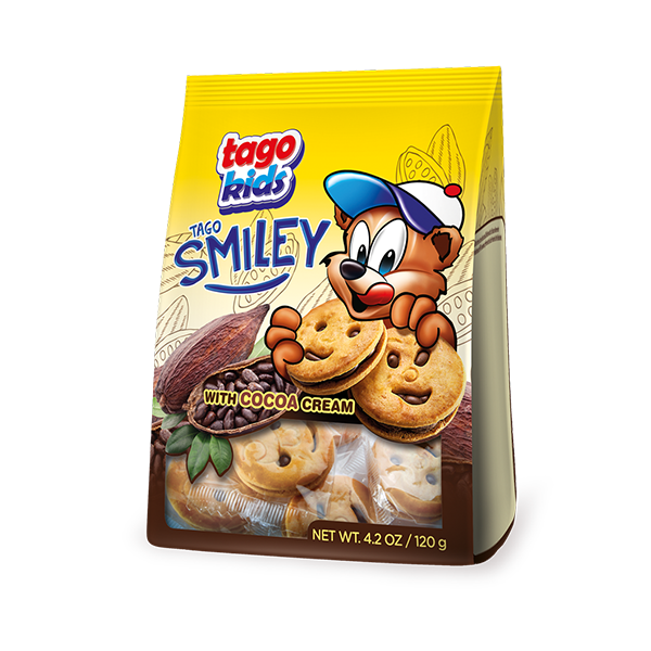 Tago Smiley with vanilla cream