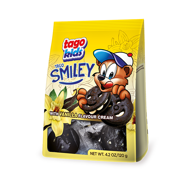 Tago Smiley with cocoa cream