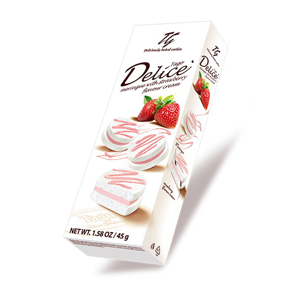 Tago Delice' meringue strawberry